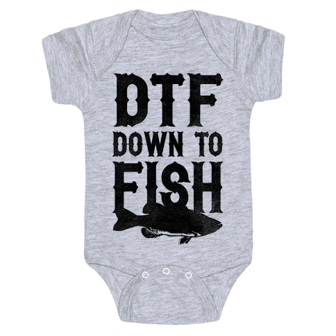 Down To Fish Baby Onesy