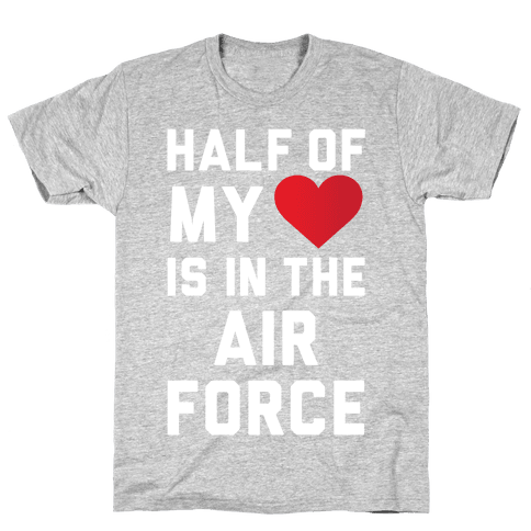Half My Heart Is In The Air Force (Air Force Tank) Mens T-Shirt