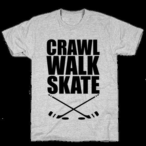 Crawl Walk Skate Mens T-Shirt