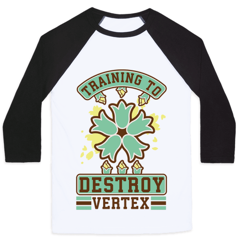 Training to Destroy Vertex Itsuki Baseball Tee