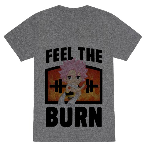 Feel the Burn (Natsu) V-Neck Tee Shirt