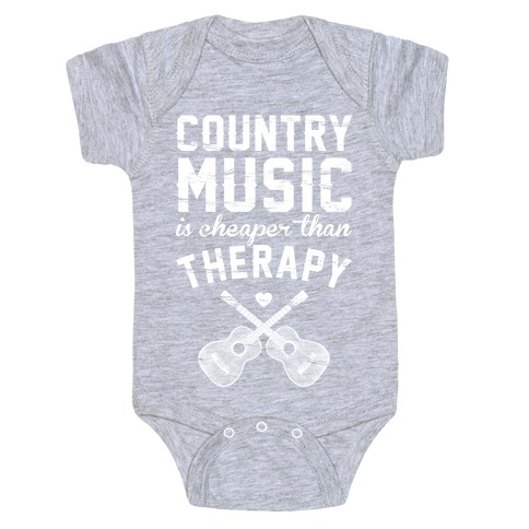 Country Music Therapy Baby Onesy