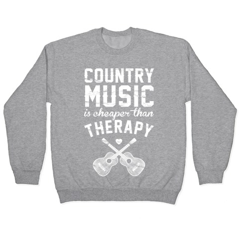 Country Music Therapy Pullover