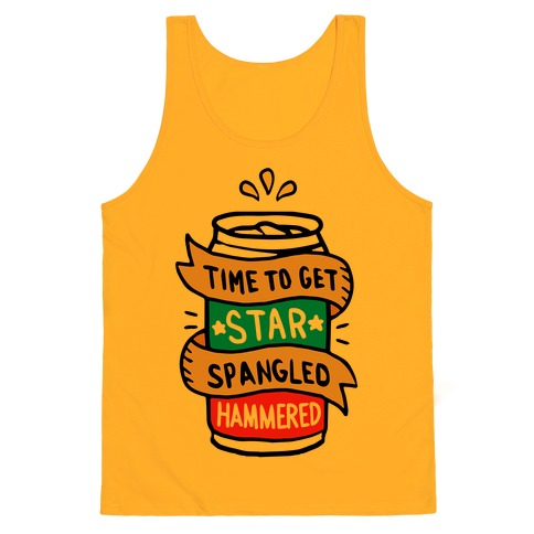 fb38174f4e7837 Time to Get Star Spangled Hammered Tank Top