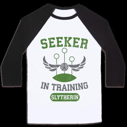 Seeker In Training (Slytherin) Baseball Tee