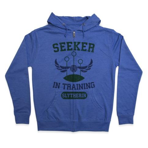Seeker In Training (Slytherin) Zip Hoodie
