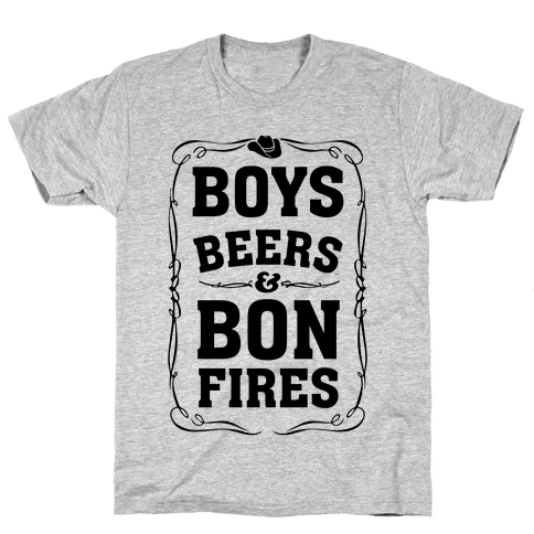 Boys Beers & Bonfires Mens T-Shirt