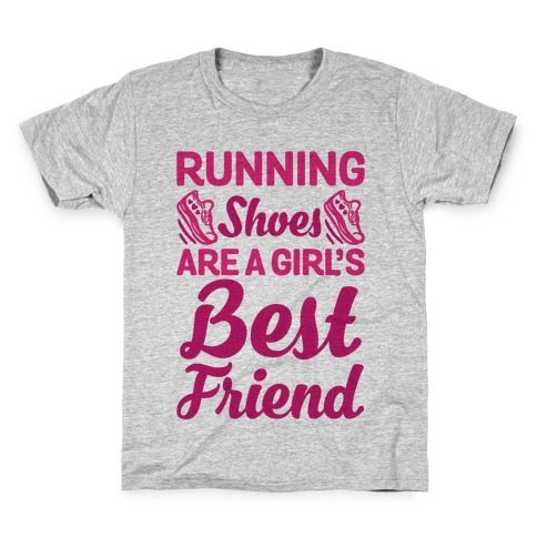 Running Shoes Are a Girl's Best Friend Kids T-Shirt