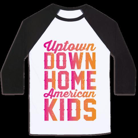Uptown Downhome American Kids Baseball Tee