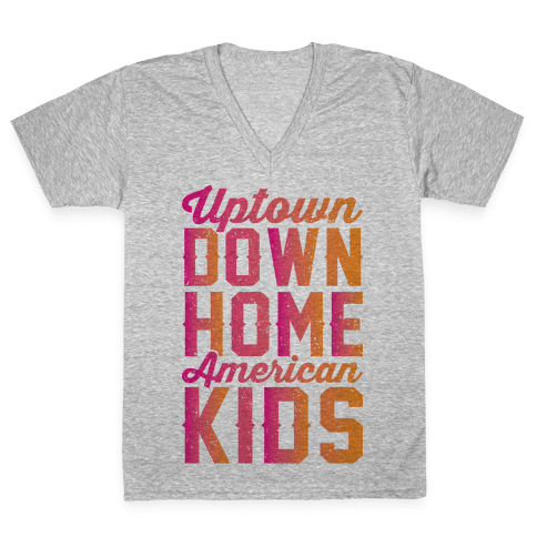 Uptown Downhome American Kids V-Neck Tee Shirt