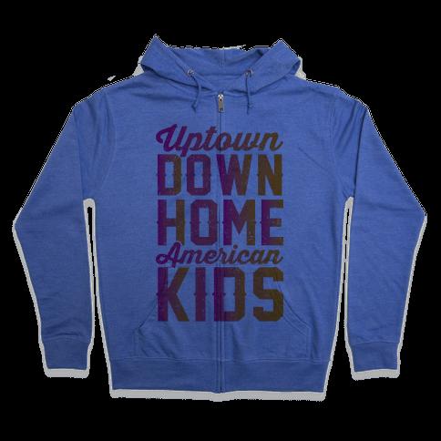Uptown Downhome American Kids Zip Hoodie