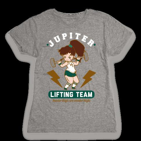 Jupiter Lifting Team Thunder Thighs are Wonder Thighs Womens T-Shirt