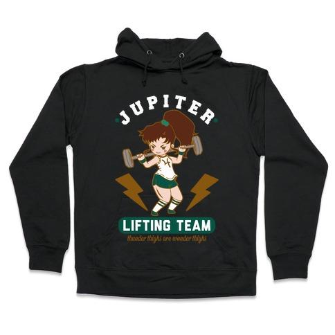 Jupiter Lifting Team Thunder Thighs are Wonder Thighs Hooded Sweatshirt