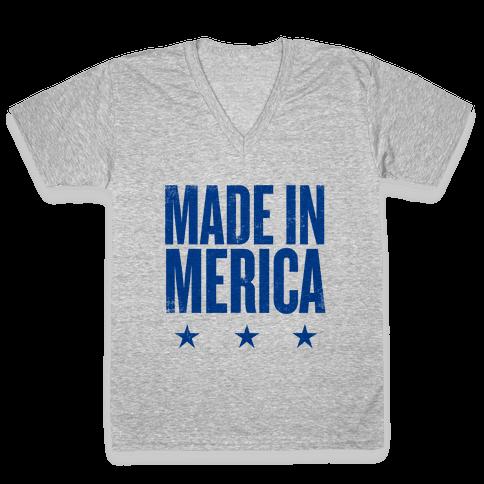 Made In Merica V-Neck Tee Shirt