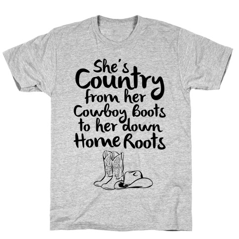 Cowboy Boots and Home Grown Roots T-Shirt