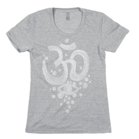 Om And Eye Womens T-Shirt