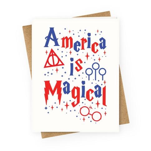 America Is Magical Greeting Card