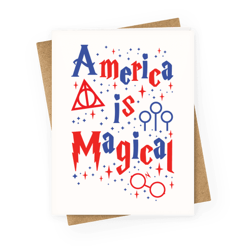 America Is Magical Greeting Card