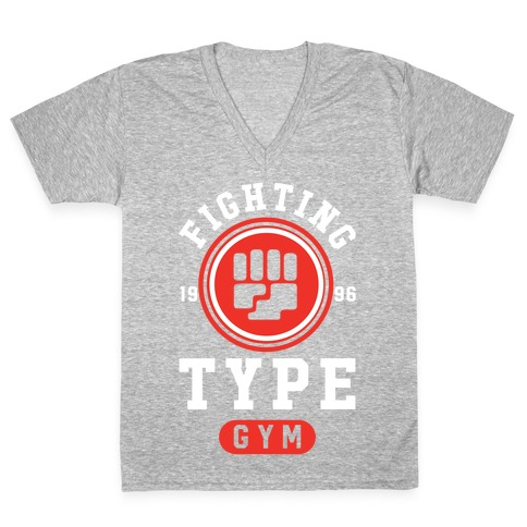 Fighting Type Gym 1996 V-Neck Tee Shirt