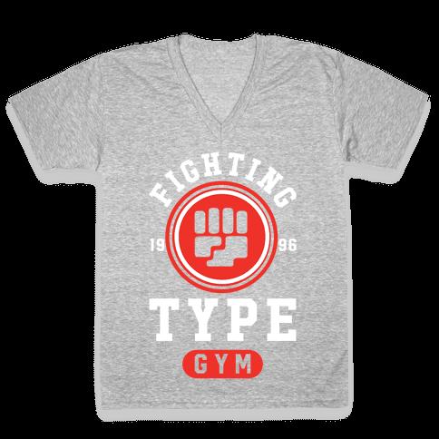 Fighting Type Gym 1996 V-Neck Tee Shirt