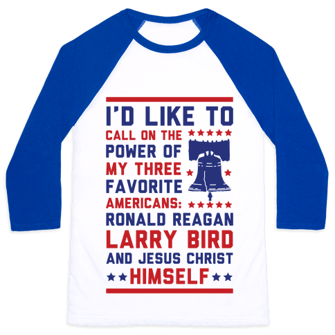 My Three Favorite Americans Baseball Tee