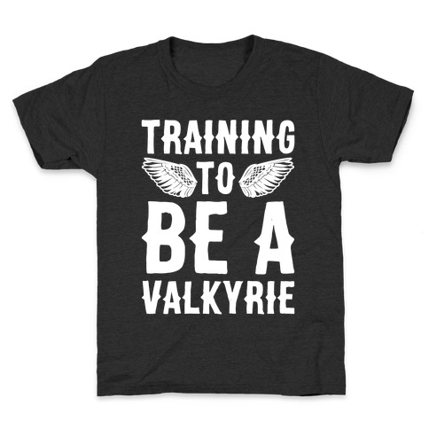 Training To Be A Valkyrie Parody White Print Kids T-Shirt