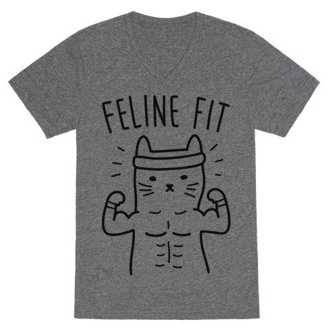 Feline Fit V-Neck Tee Shirt