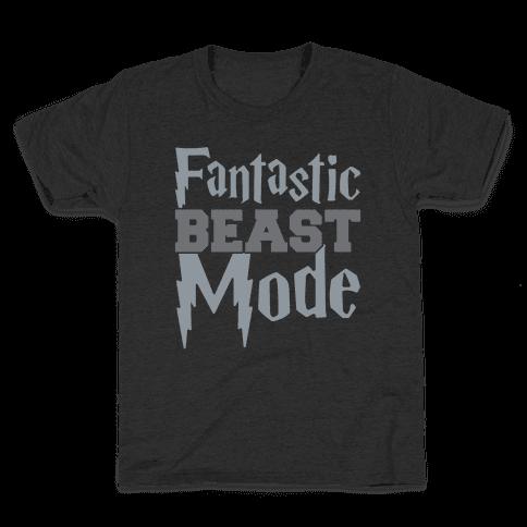 Fantastic Beast Mode Parody White Print Kids T-Shirt