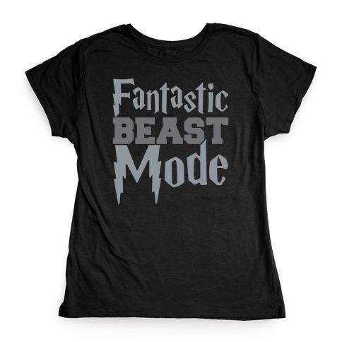 Fantastic Beast Mode Parody White Print Womens T-Shirt