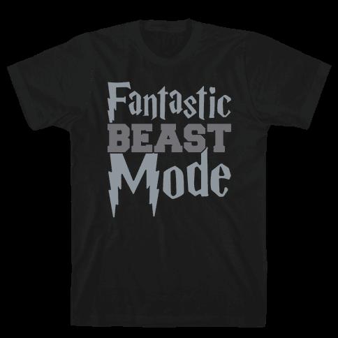 Fantastic Beast Mode Parody White Print Mens T-Shirt