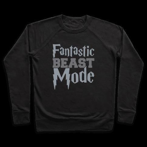 Fantastic Beast Mode Parody White Print Pullover