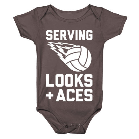 Serving Looks And Aces Volleyball Baby One-Piece