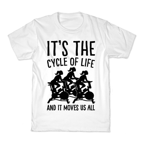 It's The Cycle of Life Spinning Parody Kids T-Shirt