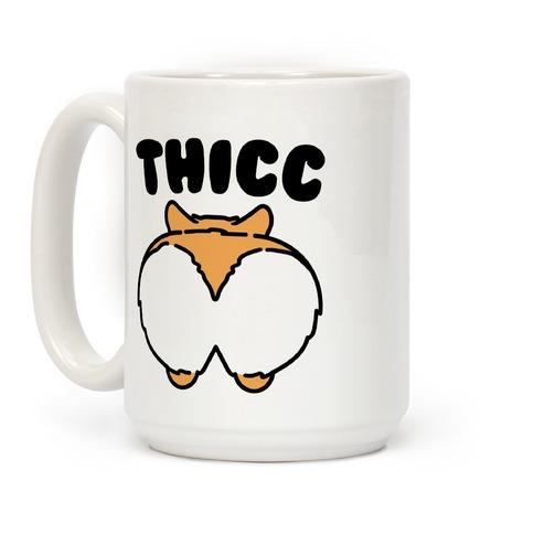 Corgi Butt Coffee Parody Apparel MugActivate Thicc 8kPnO0w
