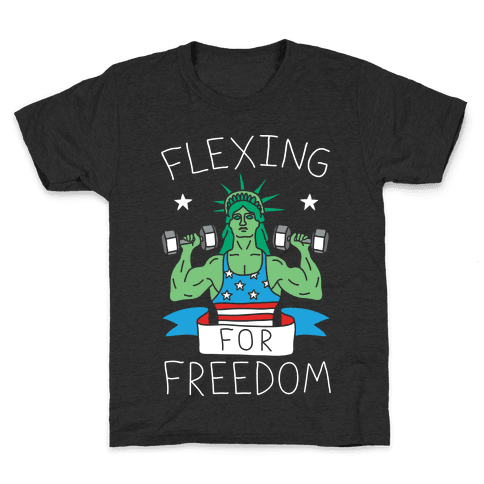 Flexing For Freedom Kids T-Shirt
