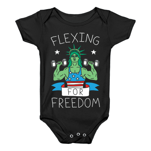 Flexing For Freedom Baby Onesy