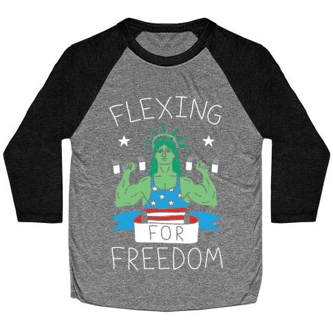 Flexing For Freedom Baseball Tee