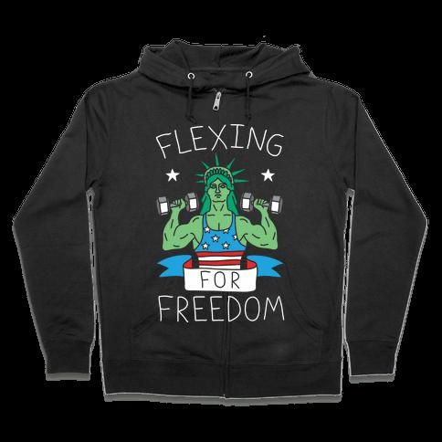 Flexing For Freedom Zip Hoodie