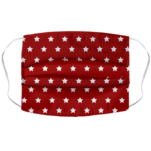 Red White Stars Face Mask Cover