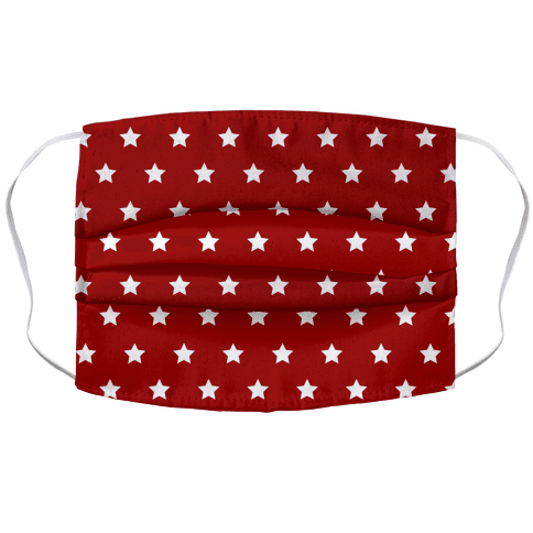 Red White Stars Face Mask
