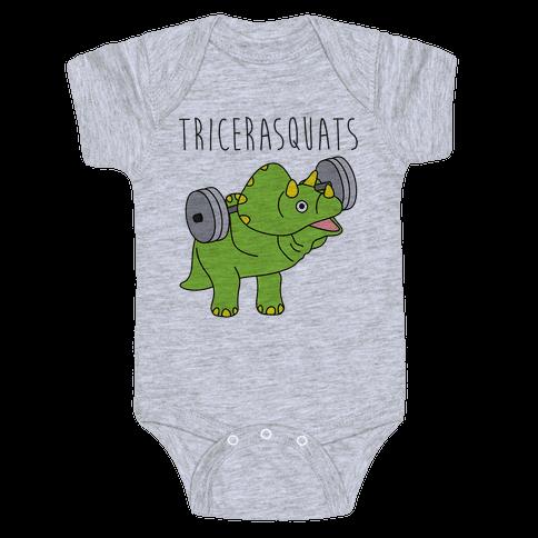 TriceraSQUATS Baby Onesy