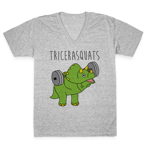 TriceraSQUATS V-Neck Tee Shirt