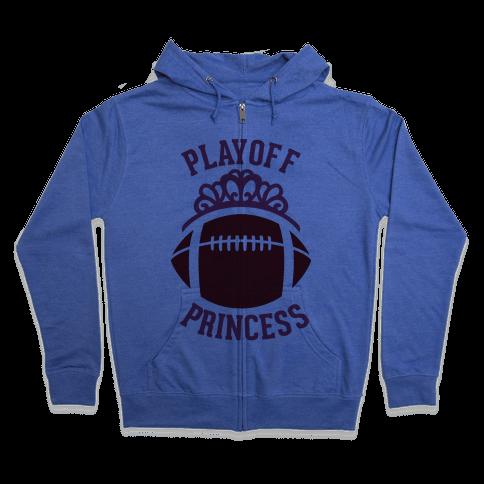 Playoff Princess (Football) Zip Hoodie