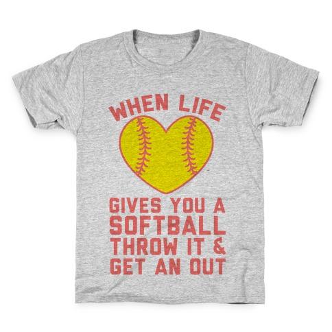 Throw It & Get An Out Kids T-Shirt