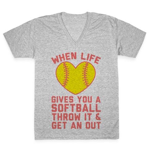 Throw It & Get An Out V-Neck Tee Shirt