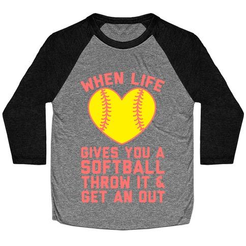 Throw It & Get An Out Baseball Tee