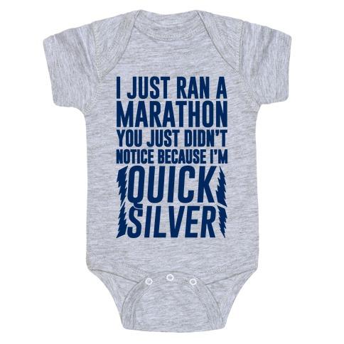 I Just Ran A Marathon Baby Onesy