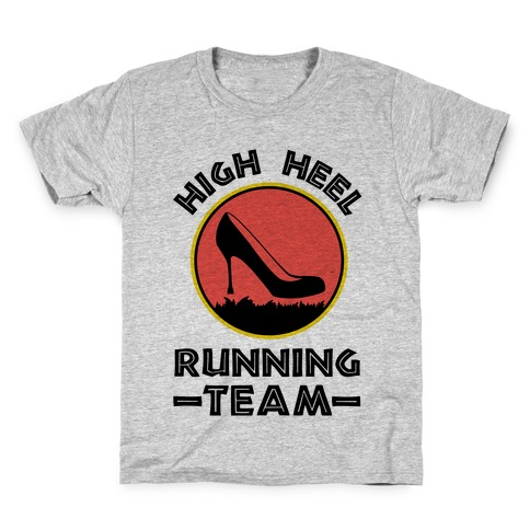 High Heel Running Team Kids T-Shirt