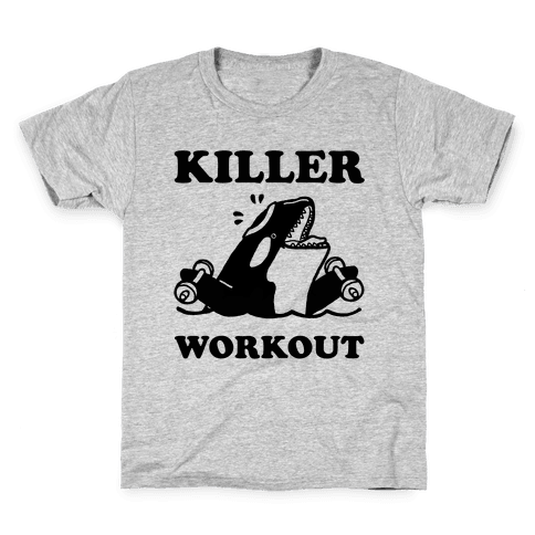 Killer Workout (Orca) Kids T-Shirt