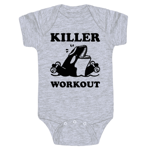 Killer Workout (Orca) Baby Onesy